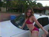 Adrienne washes a car in a bikini nn but sexy as hell