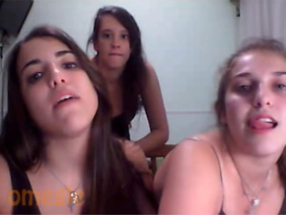 Three really hot grils in hotpants from omegle